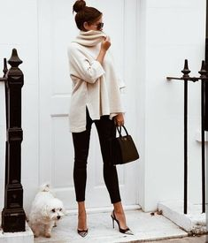 Cozy & Casual Office Outfits For Winter 38 - Fashion Moda 2019 Looks Street Style, Looks Style, My Style, Fashion Mode, Work Fashion, Fashion Black, Classic Womens Fashion, Retro Fashion, Fashion Basics