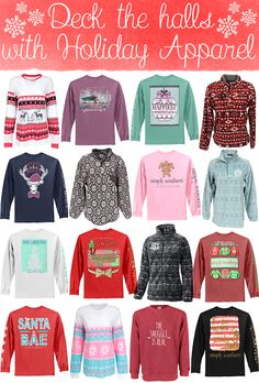 The Monogrammed Life: Deck the Halls with Holiday Apparel!