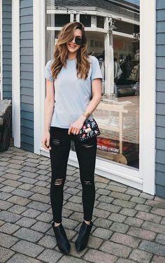 10 combinações básicas e estilosas por Nichole Ciotti - Guita Moda Look Fashion, Girl Fashion, Fashion Outfits, Womens Fashion, Fashion Tips, Stylish Outfits, Cool Outfits, Estilo Preppy, Western Outfits