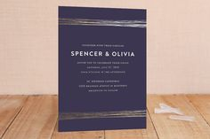 Golden Threads Foil-Pressed Wedding Invitations by Lisa Tamura Guerrero at minted.com