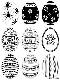 Pisanki - the decorated Easter eggs in Poland - century examples Hoppy Easter, Easter Bunny, Easter Egg Pattern, Inkle Weaving, Easter Egg Designs, Ukrainian Easter Eggs, Easter Egg Crafts, Diy Ostern, Butterfly Crafts