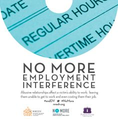Many abusers won't allow the victim to work or will interfere with her job as a tactic for exerting more power and control #endDV #NoMore http://www.clicktoempower.org/financial-tools/career-empowerment-curriculum