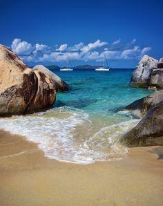 The island of Virgin Gorda among the British Virgin Islands in the Caribbean