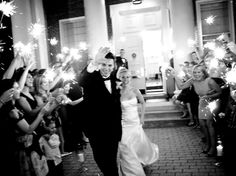 Wedding sparklers,  We love this idea! Leland and I are definitely doing this :)