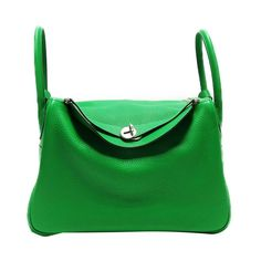 b9cf8aef6374 (eBay Ad) Auth HERMES Lindy 34 Shoulder Handbag Bambou Green Taurillon  Clemence Leather