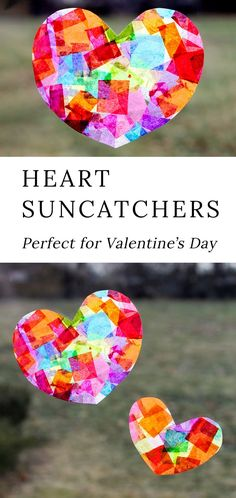In love with this beautiful Rainbow Heart Suncatcher craft! Made with tissue paper and glue, this easy Valentine's Day craft for kids is perfect for home or the classroom. prevention for kids Rainbow Heart Suncatchers with Heart Template Valentine's Day Crafts For Kids, Valentine Crafts For Kids, Mothers Day Crafts, Toddler Crafts, Preschool Crafts, Crafts For Camp, Craft Ideas For Girls, Easter Crafts, Crafts For Kindergarten