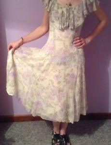 Vintage Ladies Laura Ashley 1920s Style Size Tea Dress  | eBay