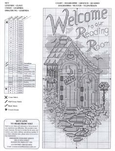 Gallery.ru / Фото #48 - домики-домишки - tanya-nikolai-Welcome to Our Reading Room outhouse pattern.