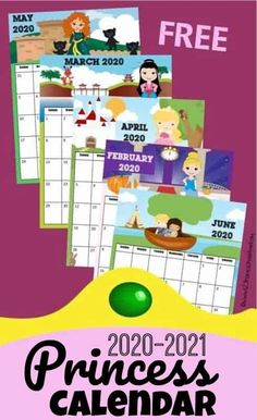 Toddler Calendar, Kids Calendar, Free Printable Calendar, Free Printables, Disney Calendar, Cute Calendar, Free Worksheets For Kids, Activities For Kids, Educational Activities
