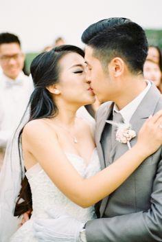 Wedding Day Wedding Photography Film Photography Holy Matrimony  Wedding Kiss Bride & Groom Gunawan & Melisa