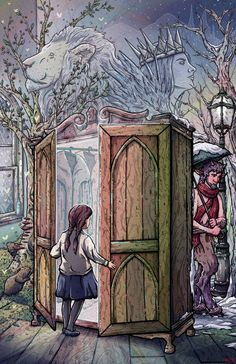 Lucy's Discovery Custom Narnia Illustration Giclée by RoseMakesArt