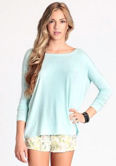 Thread Sense, Stand Strong Oversized Top in Mint