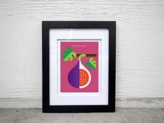 Hand-signed digitally printed fig poster fruit by ChristopherDina
