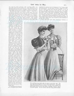 Girls Attire for May 1906 from the Girl's Own Paper – The Dreamstress