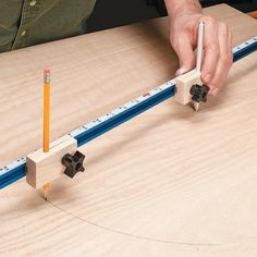 Big Compass for Layouts   Woodsmith Tips