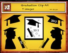 This Free Graduation clip art includes 7 items in black silhouettes.CapCap 2013DiplomaDiploma 2013Girl GraduateBoy GraduatePosterCongratulations to all the Graduates from Charlotte's Clips!These graphics are available for commercial use, however, credit must be given to the illustrator.