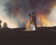 Wildfire made for a breathtaking wedding in Oregon (Video) ... http://www.allvoices.com/contributed-news/17259020-wildfire-made-for-a-breathtaking-wedding-in-oregon-video
