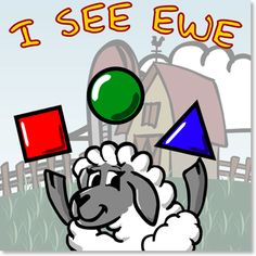 I See Ewe is an educational game for the iPhone, iPod Touch and iPad that helps your preschooler learn to recognize shapes, objects, colors and animals and to learn their first sight words through two simple yet engaging games