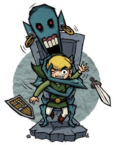 The Legend of Zelda: The Wind Waker, Toon Link / The Wind Waker: ReDead by Purrdemonium on deviantART