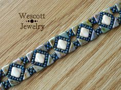 Pattern for Backsplash Bracelet and Earring with Tango Beads