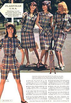"Madras Madness in ""Plaidville USA"" - Montgomery Ward, 1966"