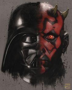 Star Wars - Darth Vader and Darth Maul by Franco Rivolli