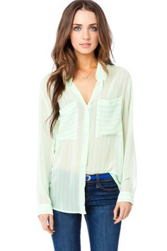 ShopSosie Style : Lawrence Blouse in Bright Mint