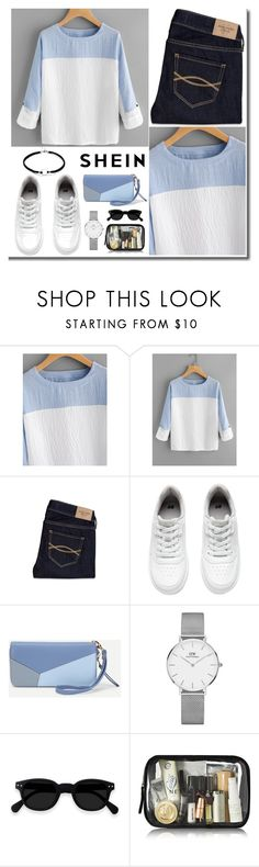 """Untitled #3076"" by nikkimarie-1123 ❤ liked on Polyvore featuring Abercrombie & Fitch, H&M and Daniel Wellington"