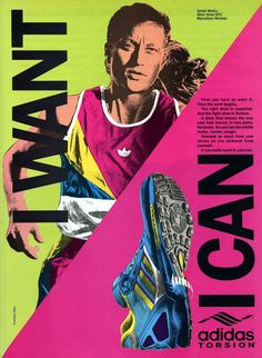 Today we have a look at two adidas Torsion running shoe ads from 1989.