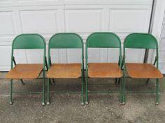 Metal Steel Folding Chairs | Mid Century Modern