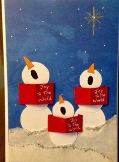 Knutselen met kids sneeuwpoppen