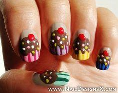 cake nail design