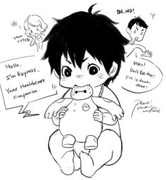 [BH6]Little Tadashi and Baby Hiro by CHAYI105.deviantart.com on @DeviantArt>>> That is cute. Adorable level 100000xx