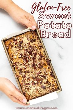 This fluffy, sweet, gluten-free sweet potato bread is easy to make and full of warm fall flavours. It's freezer-friendly, and great for sweet treats and snacks! Make this delicious, vegan bread recipe this fall and enjoy! #sweetpotato #glutenfree #fallrecipe #dessert #vegan #baking #recipe
