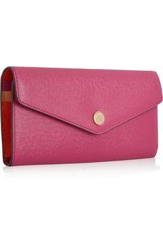 MICHAEL Michael Kors Color-block textured-leather wallet NET-A-PORTER.COM