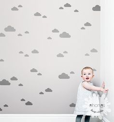 3 Size Cloud Wall Decal / Cloud Wall Sticker by OhongsDesignStudio