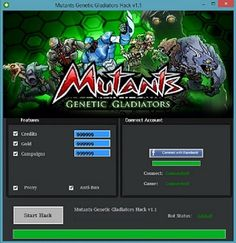 Download Mutants Genetic Gladiators Cheat   2016. Download hack for Mutants Genetic Gladiators Cheat. Download crack for Mutants Genetic Gladiators Cheat. Mutants Genetic Gladiators Cheat download cheats 2016, crack and tools.