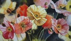 Iceland Poppies by Svetlana Orinko, who has been at the forefront of New Zealand Art scene for over twenty years. Art Critique, New Zealand Art, Nz Art, Still Life Art, Watercolor Flowers, Painting Flowers, Watercolour, Portrait Art, Flower Art