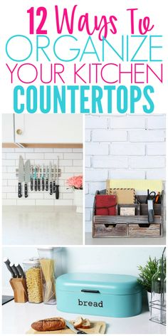 12 Ways To Organize Kitchen Countertops. 12 Ways To Organize Kitchen Countertops - Organization Obsesssed. Are your countertops always cluttered? These brilliant ideas will help you organize your kitchen countertops and keep them clutter free!
