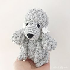 Made to Order POODLE crochet amigurumi Poodles, Half Double Crochet, Single Crochet, Amigurumi Patterns, Crochet Patterns, Yarn Dolls, Crochet Abbreviations, Cute Bows, Sewing Basics