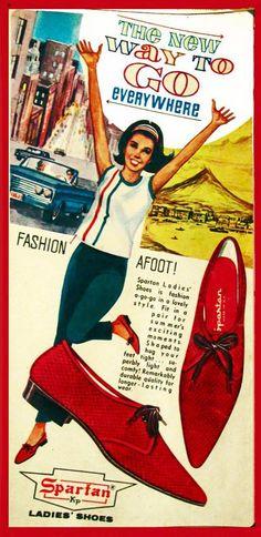 Spartan Footwear print ad. 1970s