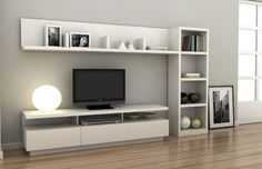17 veces he visto estas agraciadas muebles minimalistas. Tv Unit Decor, Tv Wall Decor, Tv Unit Furniture, Furniture Design, Modular Furniture, Tv Wanddekor, Living Room Tv Unit Designs, Muebles Living, Home Living Room