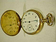 Online Antique and Collectibles Mall - over a half-million vintage antiques and collectible items for sale on-line. Gold Pocket Watch, Vintage Pocket Watch, Clocks, Vintage Antiques, Thrifting, Watches For Men, Study, Chain, My Style