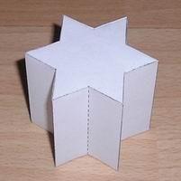 Paper model hexagrammic prism