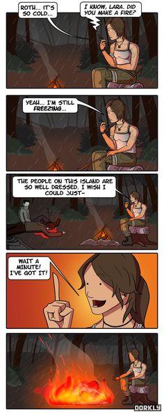 Video Games - video game logic - Page 3 - Video Game Memes - video game memes - Cheezburger - Gamer Humor, Gaming Memes, Video Game Logic, Video Games, Dorkly Comics, Tomb Raider 2013, Tomb Raider Lara Croft, Rise Of The Tomb, Manga Games