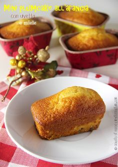 My Ricettarium: Mini plumcake all'arancia con uvetta e miele