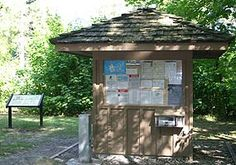 This bulletin board provides information to visitors at Little Beaver Lake Campground.
