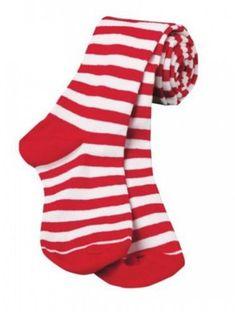 GIRLS KIDS CHILDRENS RED LUREX CHRISTMAS TIGHTS FANCY DRESS ACCESSORY