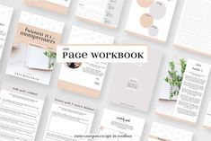 Momprenuer Workbook Indesign Canva by VanessaRyan.co on @creativemarket