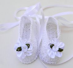 Infant Baby Girl Ballet flats slipper Booties by ItsyBitsyBabyToes, $14.00